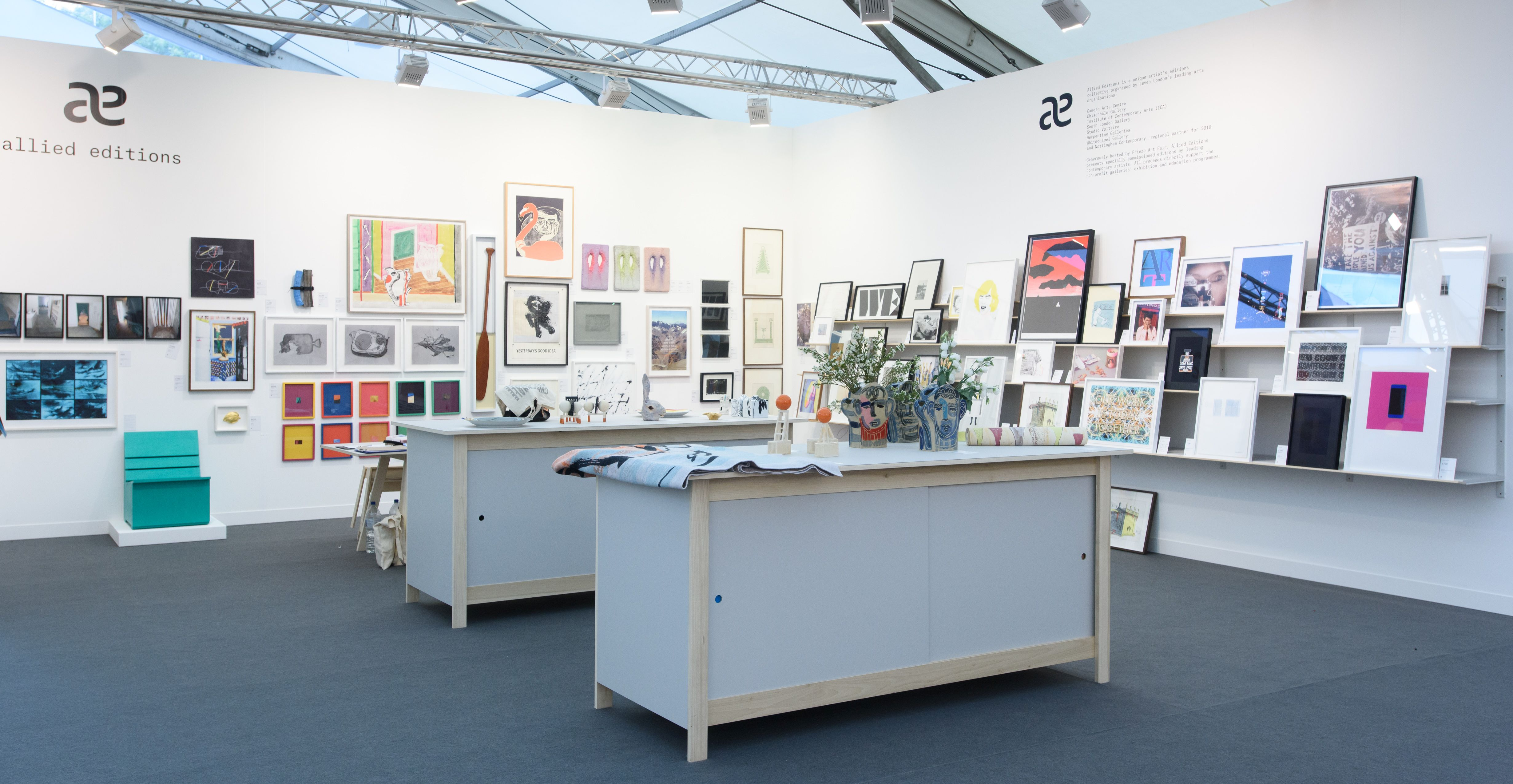 "Allied Editions stand at Frieze London 2016 <span class=""s1"">© Simon Jones</span>"